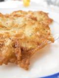 Petit détail espagnol d'omelette de crevette Photographie stock