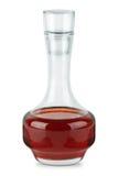 Petit décanteur avec du vinaigre de vin rouge Photos stock