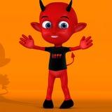 Petit diable rouge mignon Photo libre de droits