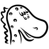 Petit dinosaure tacheté mignon, chef, animaux drôles illustration de vecteur