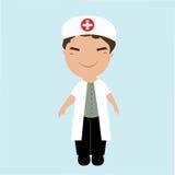 Petit docteur masculin mignon Image libre de droits