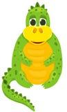 Petit dragon 1 de dessin animé Photos stock