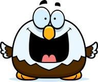 Petit Eagle chauve heureux Photo stock