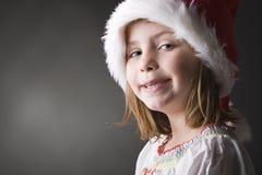 Petit elfe mignon et geeky de Noël Image stock