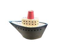 Petit en céramique de bateau Photo stock