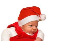 Petit enfant dans le procès de Santa Photographie stock