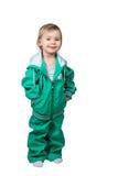 Petit enfant dans un grand costume de sports photographie stock libre de droits
