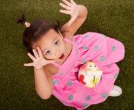 Petit enfant en bas âge espiègle Photos stock