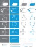 Petit ensemble d'icônes pour les e-boutiques vol. 2 Images stock