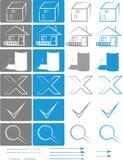 Petit ensemble d'icônes pour les e-boutiques vol. 3 Image libre de droits