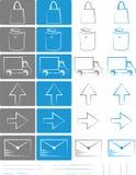 Petit ensemble d'icônes pour les e-boutiques vol. 4 Image libre de droits