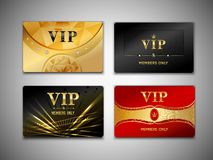 Petit ensemble de conception de cartes de VIP Photo libre de droits