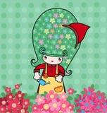 Petit fleuriste illustration de vecteur