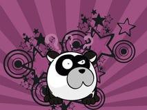Petit fond adorable de style de boule d'ours panda illustration stock