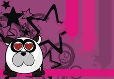 Petit fond de style de boule d'ours panda d'Inlove illustration libre de droits