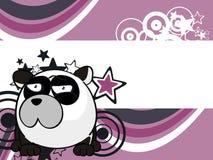 Petit fond doux de style de boule d'ours panda illustration stock