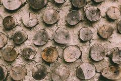 Petit fond en bois de cercle Photographie stock