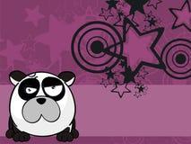 Petit fond grincheux de style de boule d'ours panda illustration de vecteur