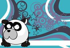 Petit fond incrédule de style de boule d'ours panda illustration stock