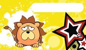 Petit fond mignon d'expression de style de kawaii de lion illustration stock