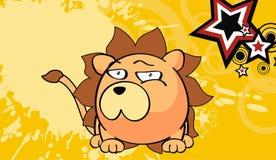 Petit fond mignon 8 d'expression de style de kawaii de lion illustration libre de droits