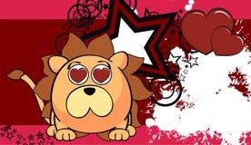 Petit fond mignon 9 d'expression de style de kawaii de lion illustration de vecteur