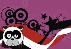 Petit fond triste de style de boule d'ours panda illustration libre de droits