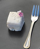 Petit Four With Fork Royalty Free Stock Photo