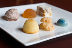 Petit fours. Candy and cakes Royalty Free Stock Image