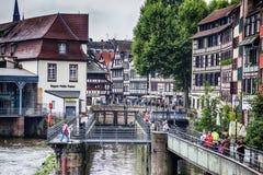 Petit-France part of old  Strasbourg,  France, July 2014 Stock Photo