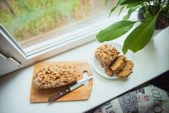 Petit gâteau avec la courgette Photographie stock libre de droits