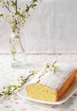 Petit gâteau avec le fromage blanc Photographie stock