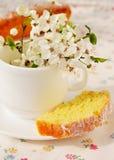Petit gâteau avec le fromage blanc Image libre de droits