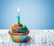 Petit gâteau avec le numéro un Photographie stock