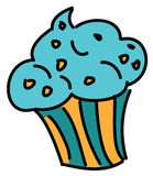 Petit gâteau bleu mignon Image stock