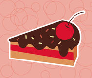 Petit gâteau Cherry Vector Photo stock