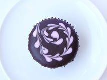 Petit gâteau d'amant de chocolat Photos stock