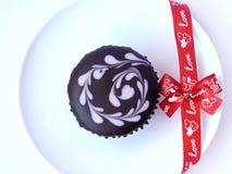 Petit gâteau d'amant de chocolat Photographie stock