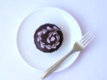 Petit gâteau d'amant de chocolat Images stock