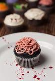 Petit gâteau d'intestins de Halloween image libre de droits