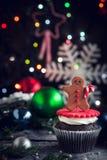 Petit gâteau de biscuit de pain d'épice Photographie stock
