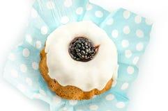 Petit gâteau de Blackberry photographie stock