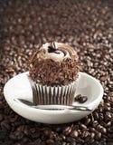 Petit gâteau de café photographie stock libre de droits