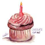 Petit gâteau de chocolat Photos stock