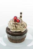 Petit gâteau de chocolat Photographie stock