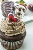 Petit gâteau de chocolat Photos libres de droits
