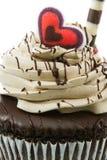 Petit gâteau de chocolat Images stock