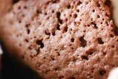 Petit gâteau de chocolat avec la fourchette Images libres de droits