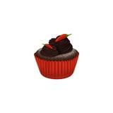 Petit gâteau de chocolat chaud avec le piment Images libres de droits