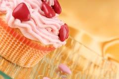 Petit gâteau de fantaisie de Saint-Valentin Images libres de droits